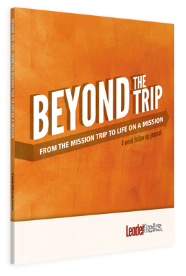 beyond the trip post trip journal leadertreks youth ministry