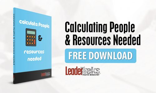 Calculate People and Resources: Youth Ministry Freebie