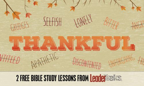 Thankful: 2 Free Bible-based Lessons from LeaderTreks