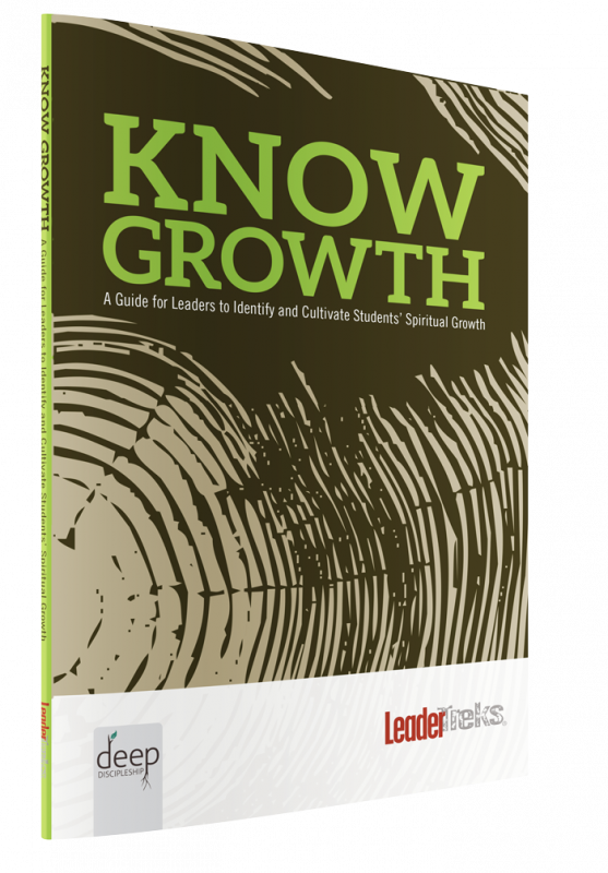 Know growth discipleship guide for youth workers