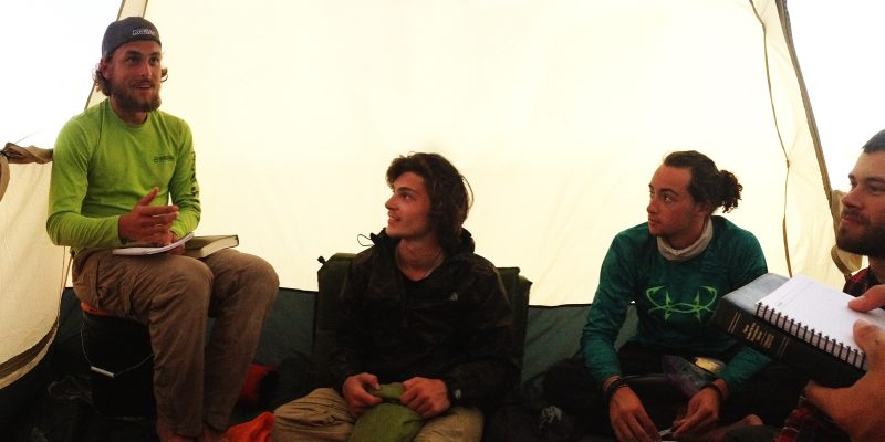 leadertreks gap year adventure guys in tent