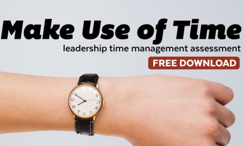 Freebie Wednesday – Make Use of Time Assessment