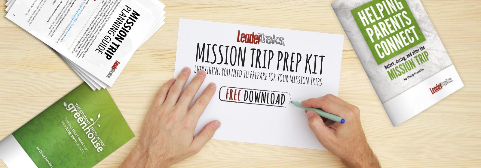 mission trip prep kit free download