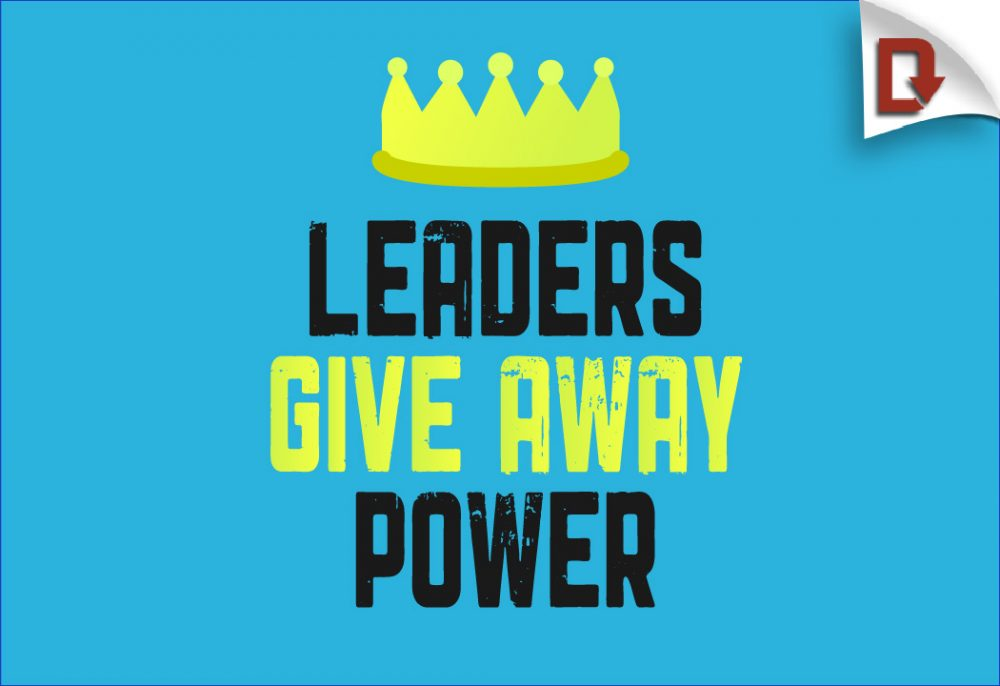 Youth Ministry leadership download leaders give away power