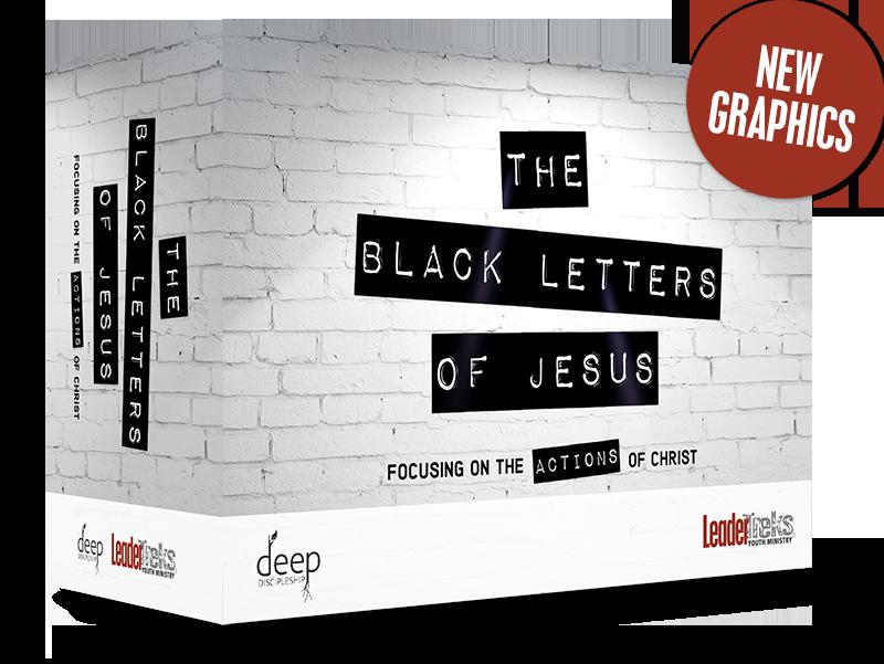 black letters of jesus