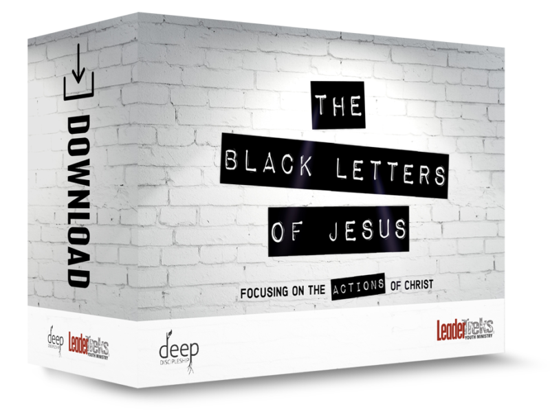 52 week deep discipleship curriculum black letters for youth ministry