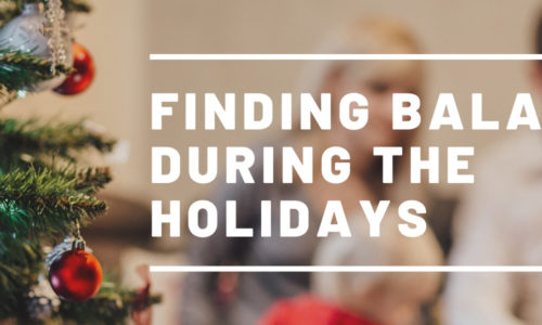 holiday season finding balance