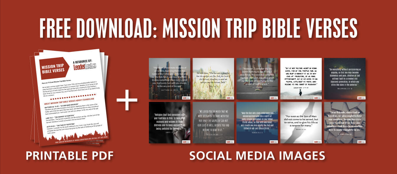 mission trip bible verse images and pdf