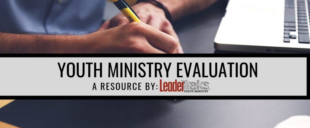 youth ministry evaluation