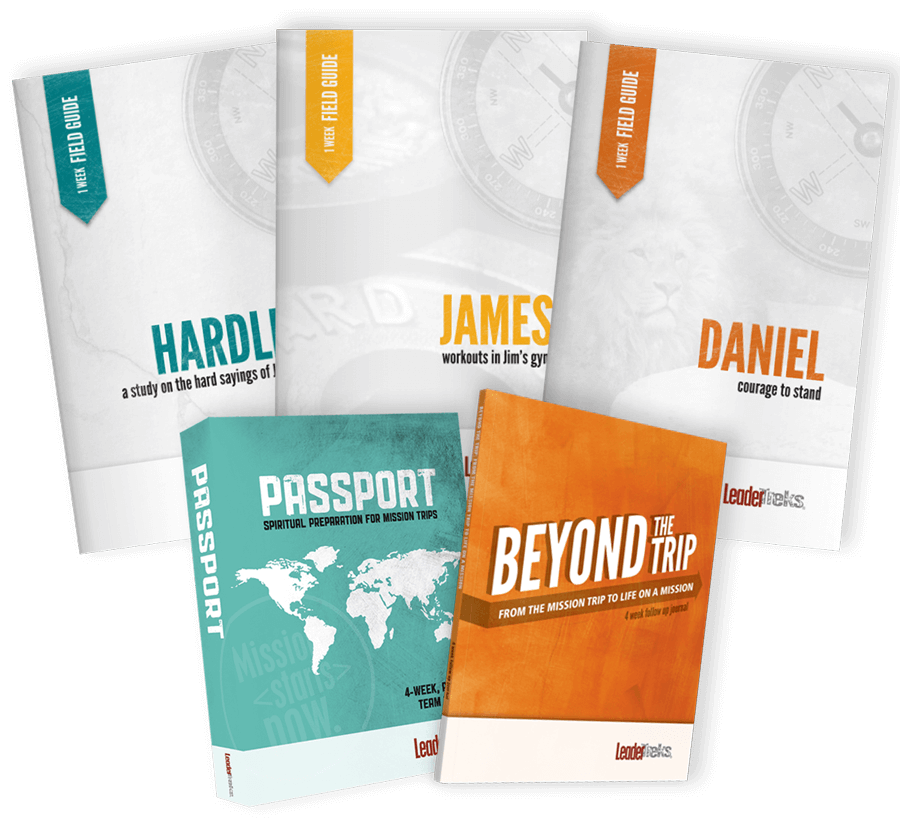 mission trip sample pack including devotionals and training