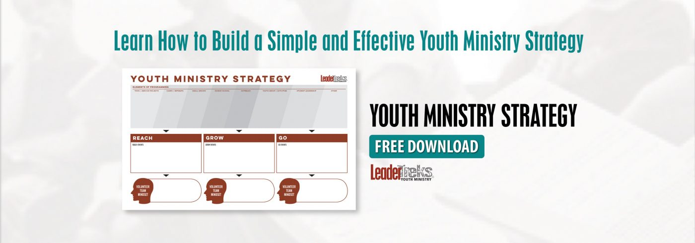 how to build a youth ministry strategy