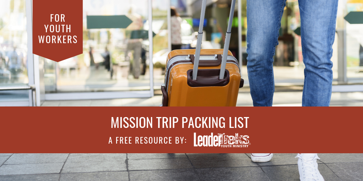 mission trip packing list