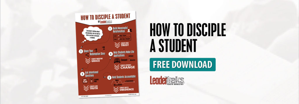 how to disciple a student infographic