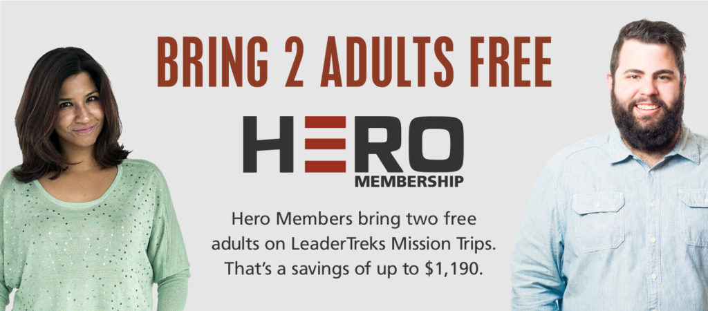 bring 2 free adults on a mission trip