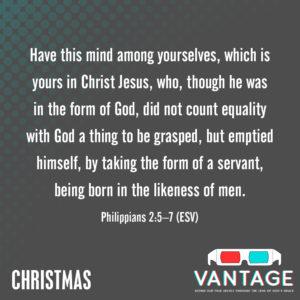 christmas lesson memory verse philippians 2