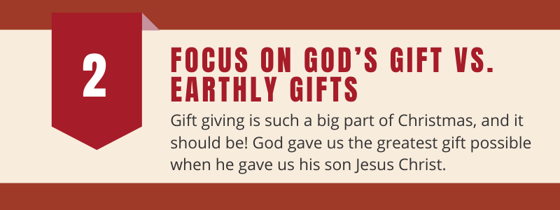 focus on God's gift this advent season