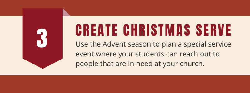 create Christmas serve event
