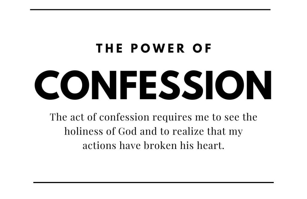 the power of confession