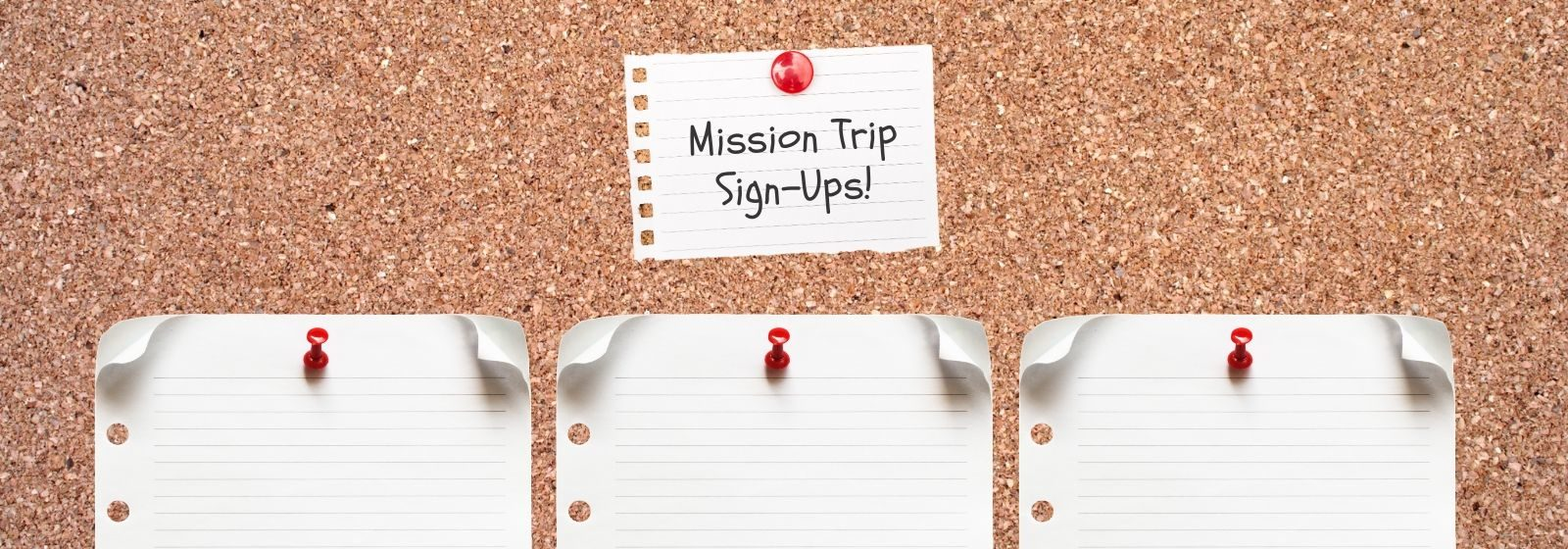 sign up sheet for mission trip
