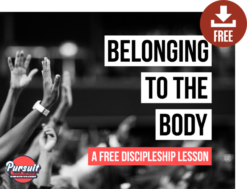 pursuit deep discipleship youth ministry free lesson belonging to the body unity racism