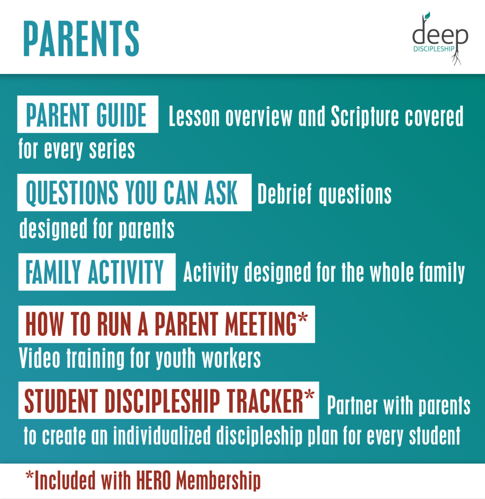 parent features inside youth ministry curriculum