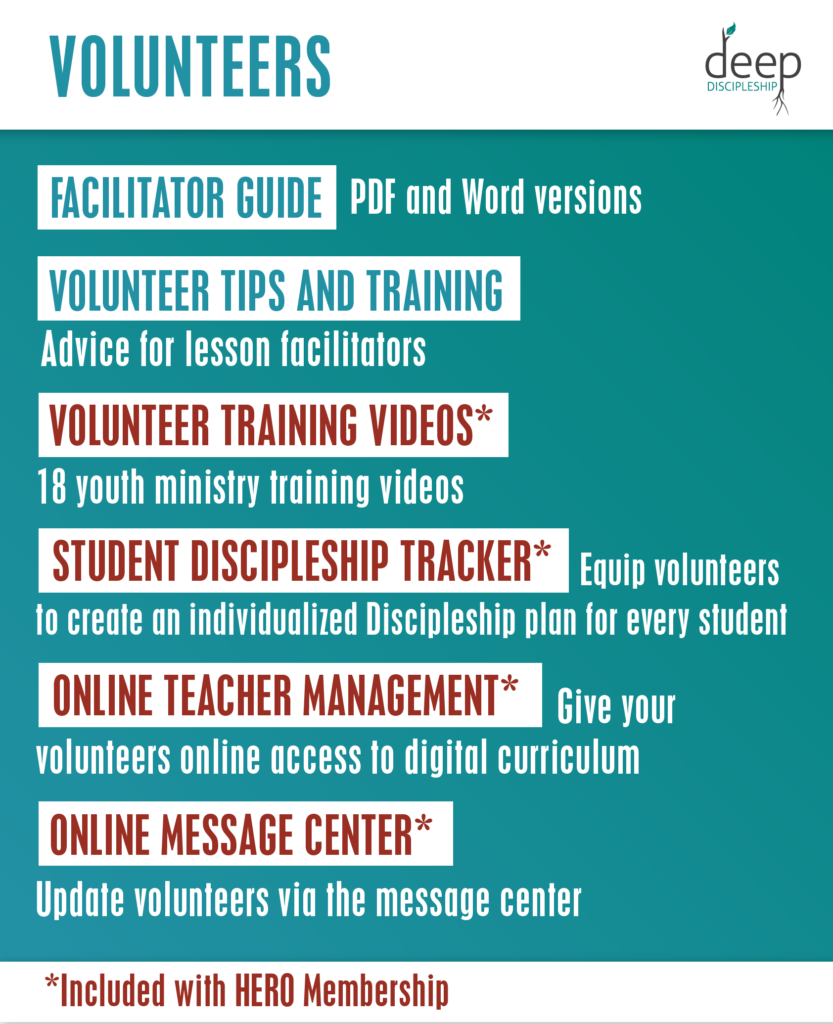 youth ministry curriculum materials for volunteers