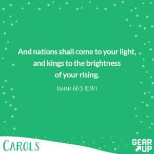 junior high christmas lesson memory verse