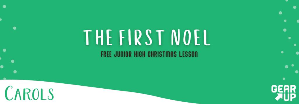 junior high christmas lesson