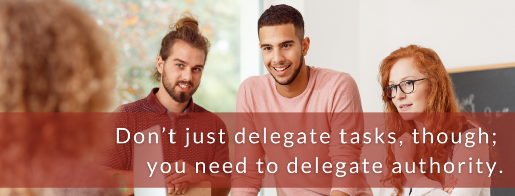 Delegate authority. How to lead a team after Covid.